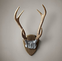 Deer Antlers in Cast Resin - Aluminum