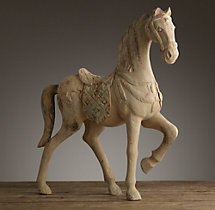19th C. Grande Semaine Dressage Horse Fragment