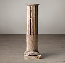 19th C. Square Base Column