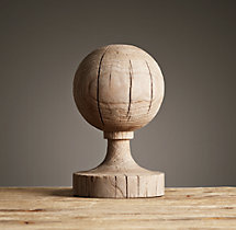 Neoclassical Wood Elements – 19th C. Globe Finial