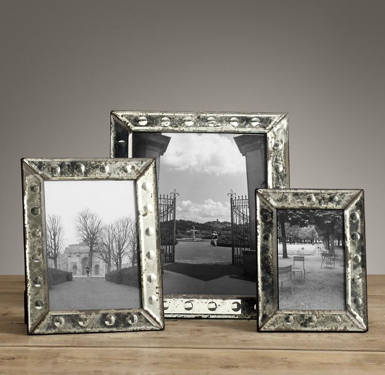 18th C Venetian Mirror Glass Frame Dot