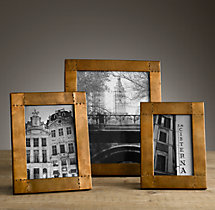 Antiqued Nailhead Tabletop Frames - Antiqued Brass
