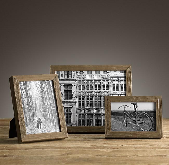 weathered oak narrow tabletop frames