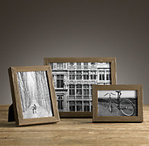 Weathered Oak Narrow Tabletop Frames