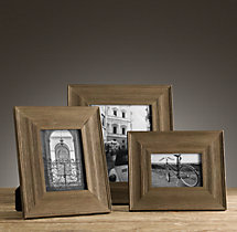 Weathered Oak Wide Tabletop Frames