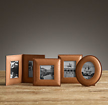 Mini Artisan Leather Tabletop Frames - Camel