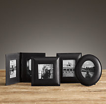 Mini Artisan Leather Tabletop Frames - Black