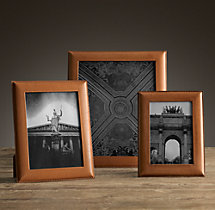 Artisan Leather Narrow Tabletop Frames - Camel