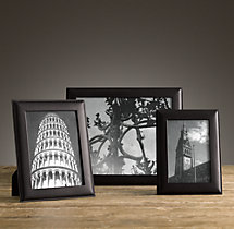 Artisan Leather Narrow Tabletop Frames - Black