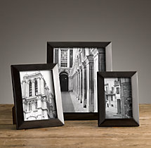 Beveled Horn Narrow Tabletop Frames - Black