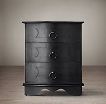 18th C. Baroque Curved Metal Closed Nightstand
