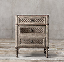 "24"" Louis XVI Treillage Closed Nightstand"