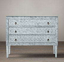 18th C. Venetian Cut-Glass 3-Drawer Dresser