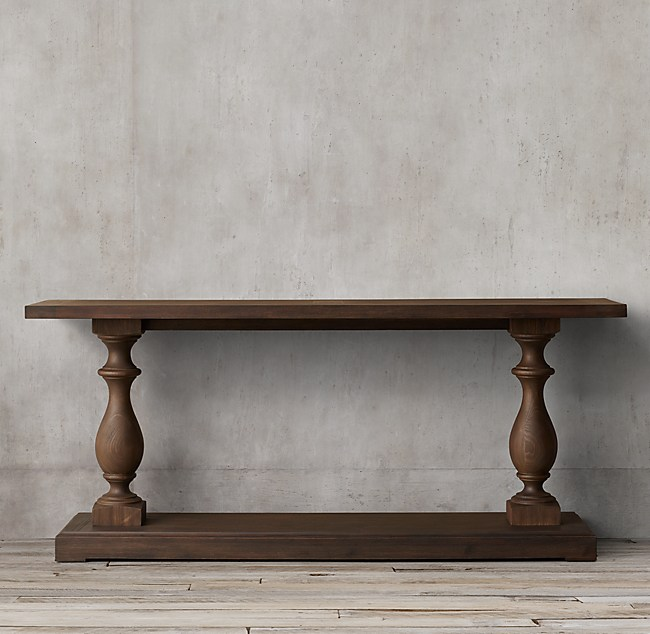 All Console Tables Rh 17th C Monastery Table Adorable Restoration Hardware With Bakers Rack Ming