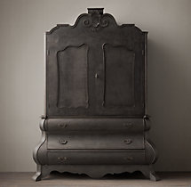 Dutch Merchant's Chest Double-Door Cabinet