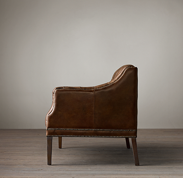 Everett Tufted Leather Settee In 2019