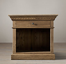 Entablature Open Nightstand