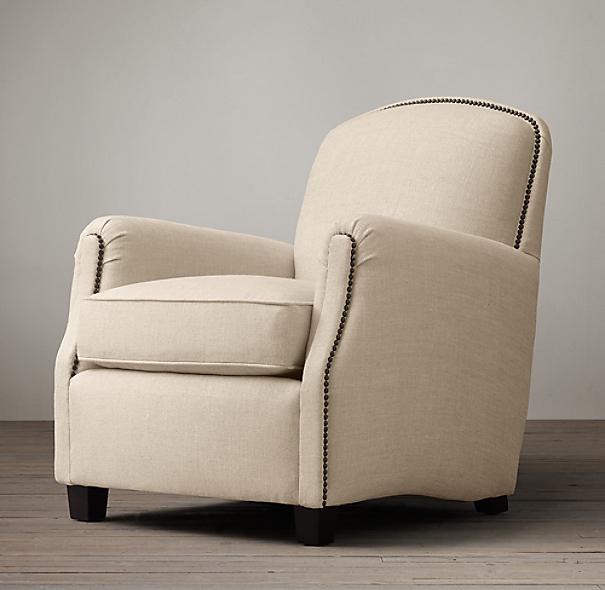 keaton upholstered club recliner