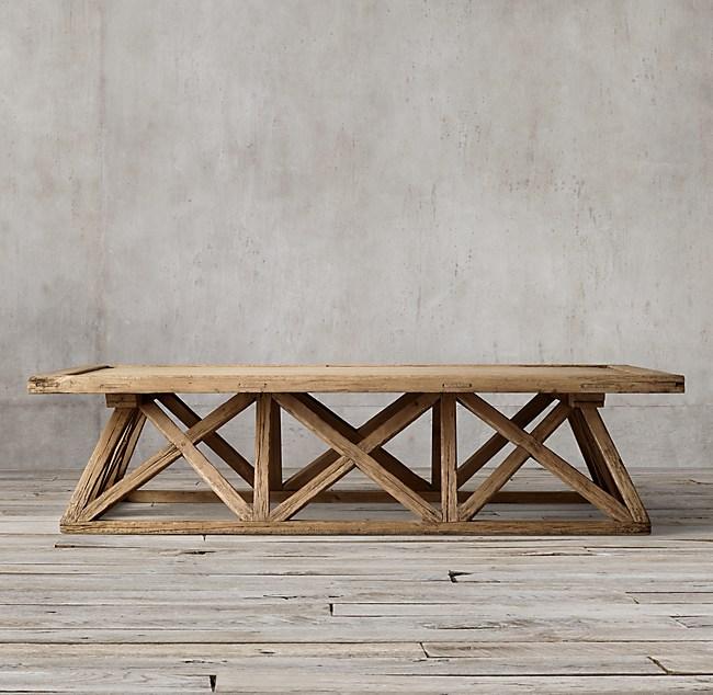 Timber Trestle Door Coffee Table