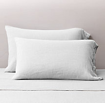 Stonewashed Belgian Linen Tipped Pillowcases (Set of 2)