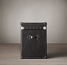 "Mayfair Steamer Trunk 17"" Cube - Old Black Saddle"