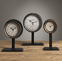 French Amperes Meter Clock