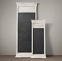 Salvaged Trumeau Chalkboard White