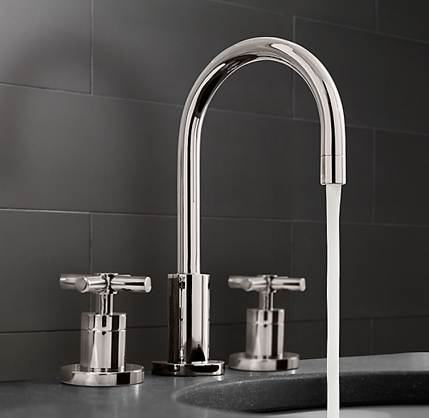 Sutton Cross Handle 8 Widespread Faucet Set