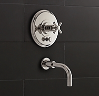 Sutton Cross Handle Balanced Pressure Tub Amp Shower Valve