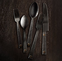 Hammered Steel Rivet 20-Piece Place Setting
