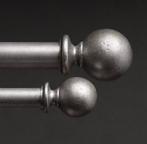 Dakota Ball Finials (Set of 2) - Vintage Nickel