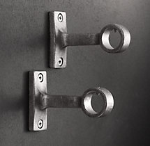 Dakota End Brackets (Set of 2) - Vintage Nickel