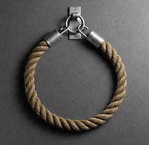Dakota Mocha Rope Tieback - Vintage Nickel