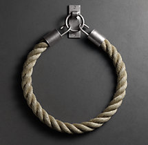 Dakota Natural Rope Tieback - Vintage Nickel