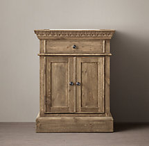 Entablature Powder Room Vanity Sink Base