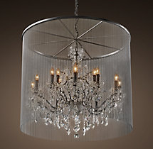 Vaille Crystal Chandelier 36""