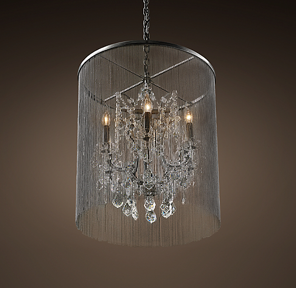 "Restoration Hardware Lighting Chandeliers: Vaille Crystal Chandelier 22"""