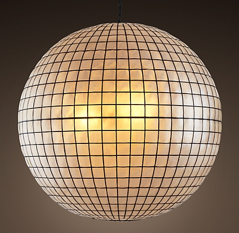 capiz shell chandelier collection rh
