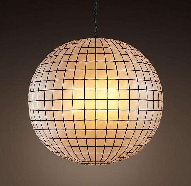 Capiz shell pendant 30 aloadofball Choice Image