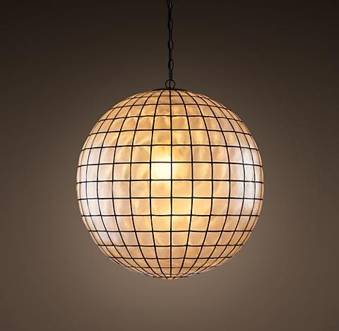 Capiz shell chandelier collection rh capiz shell pendant 24 aloadofball Images