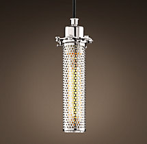 Edison Perforated Metal Pendant