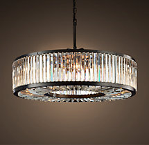 Welles Clear Crystal Round Chandelier 44""