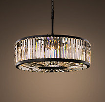 Welles Clear Crystal Round Chandelier 36""