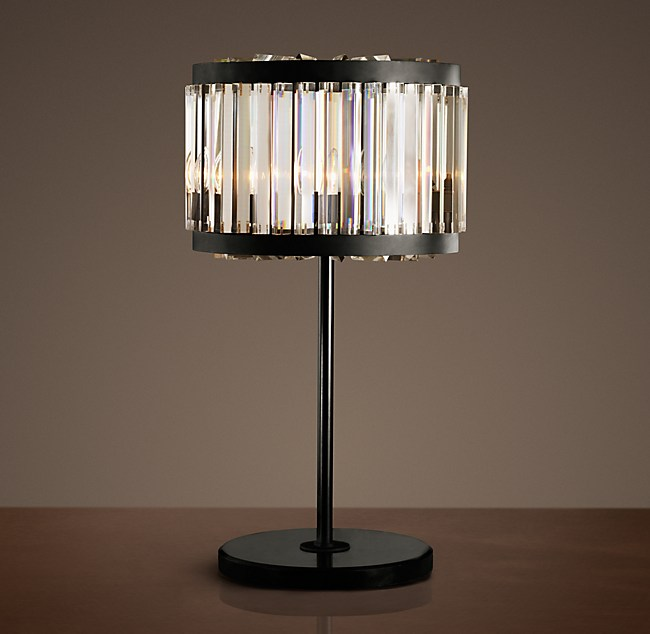 Welles Clear Crystal Table Lamp