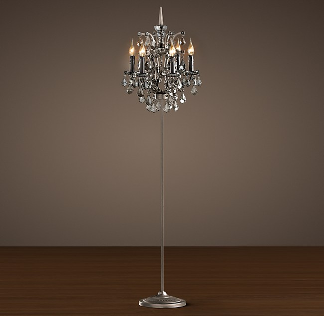 Chandelier floor lamp restoration hardware chandelier ideas c rococo iron smoke crystal floor lamp full size of restoration hardware aloadofball Images