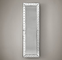 18Th C. Venetian Glass Beveled Leaner Mirror 24X80