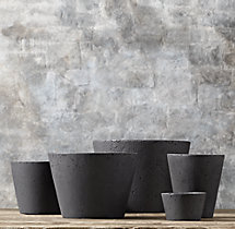 Weathered Cast Stone Nesting Planters (Set of 5)