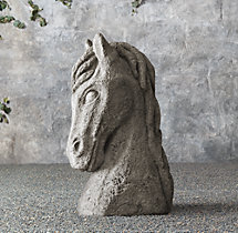 19th C. Carved Horse Head