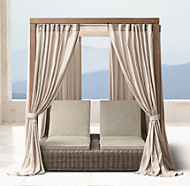 Provence Double Chaise Canopy Drapery