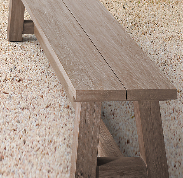 Rh French Beam Coffee Table: French Beam Teak Dining Bench